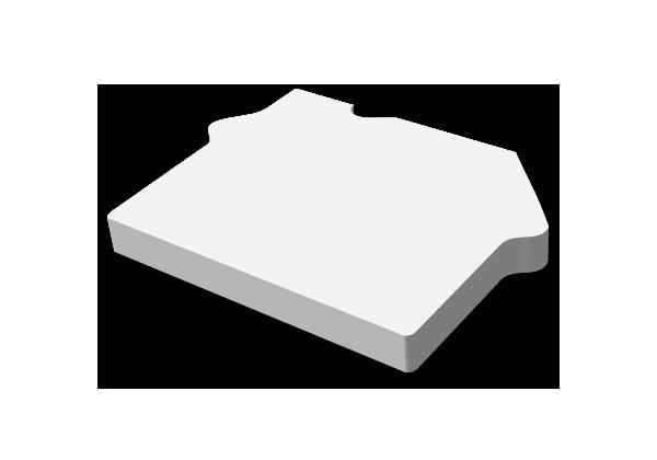 Självhäftande block, 91x65mm Form, stor bild