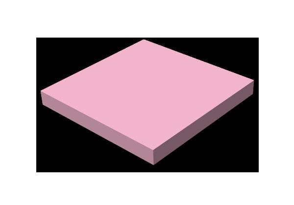 Självhäftande block, 75x75mm Färg, stor bild