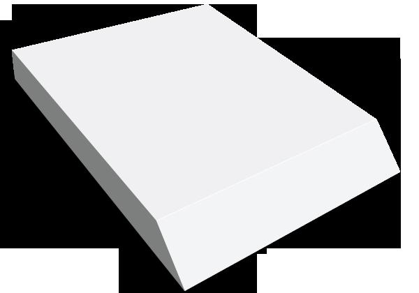 Självhäftande block, 101x152mm Kilblock, stor bild